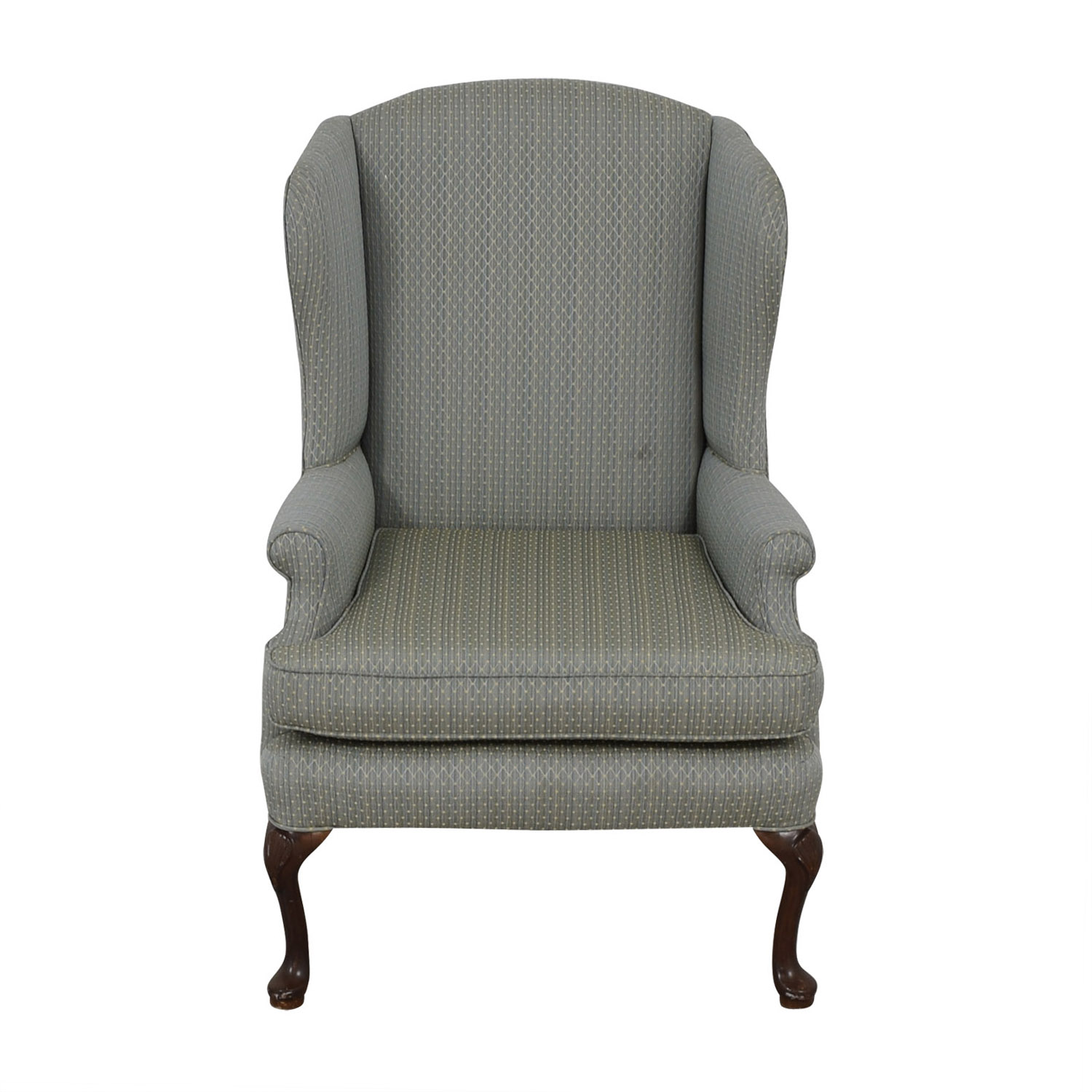 90 OFF  Blue Wingback Accent Chair  Chairs