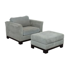 Gray Accent Chair With Ottoman Hydraulic Salon Repair 81 Off Jonathan Louis Grey And Chairs