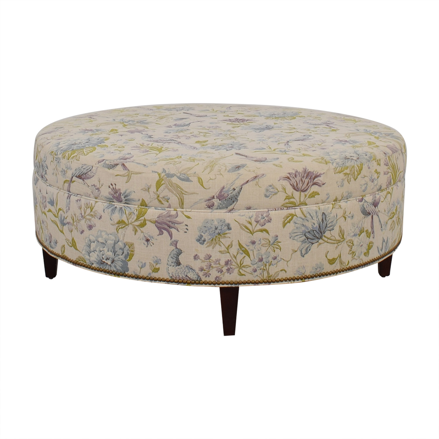 chairs and ottomans upholstered youth table 90 off custom floral bird ottoman
