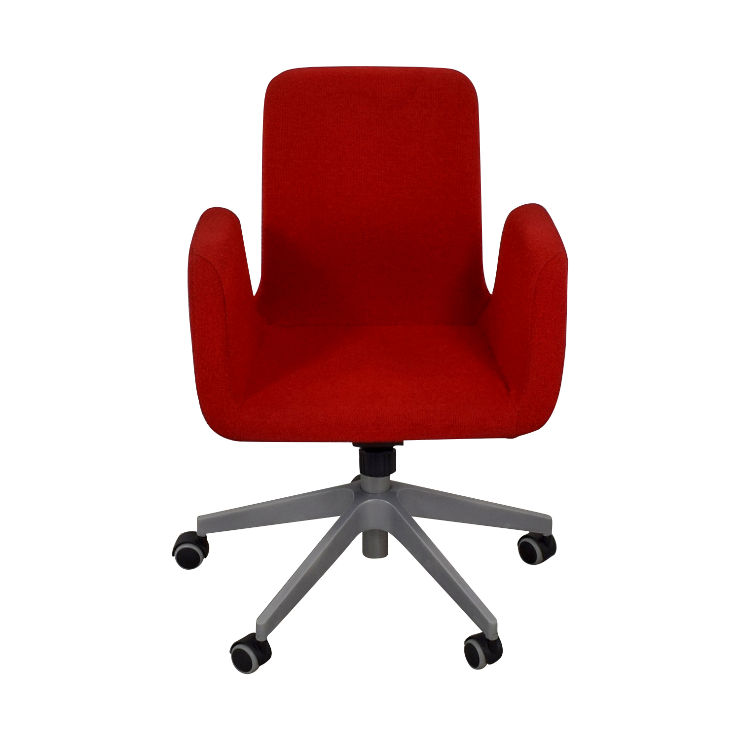 red desk chair ikea tufted blue 79 off patrik rolling chairs