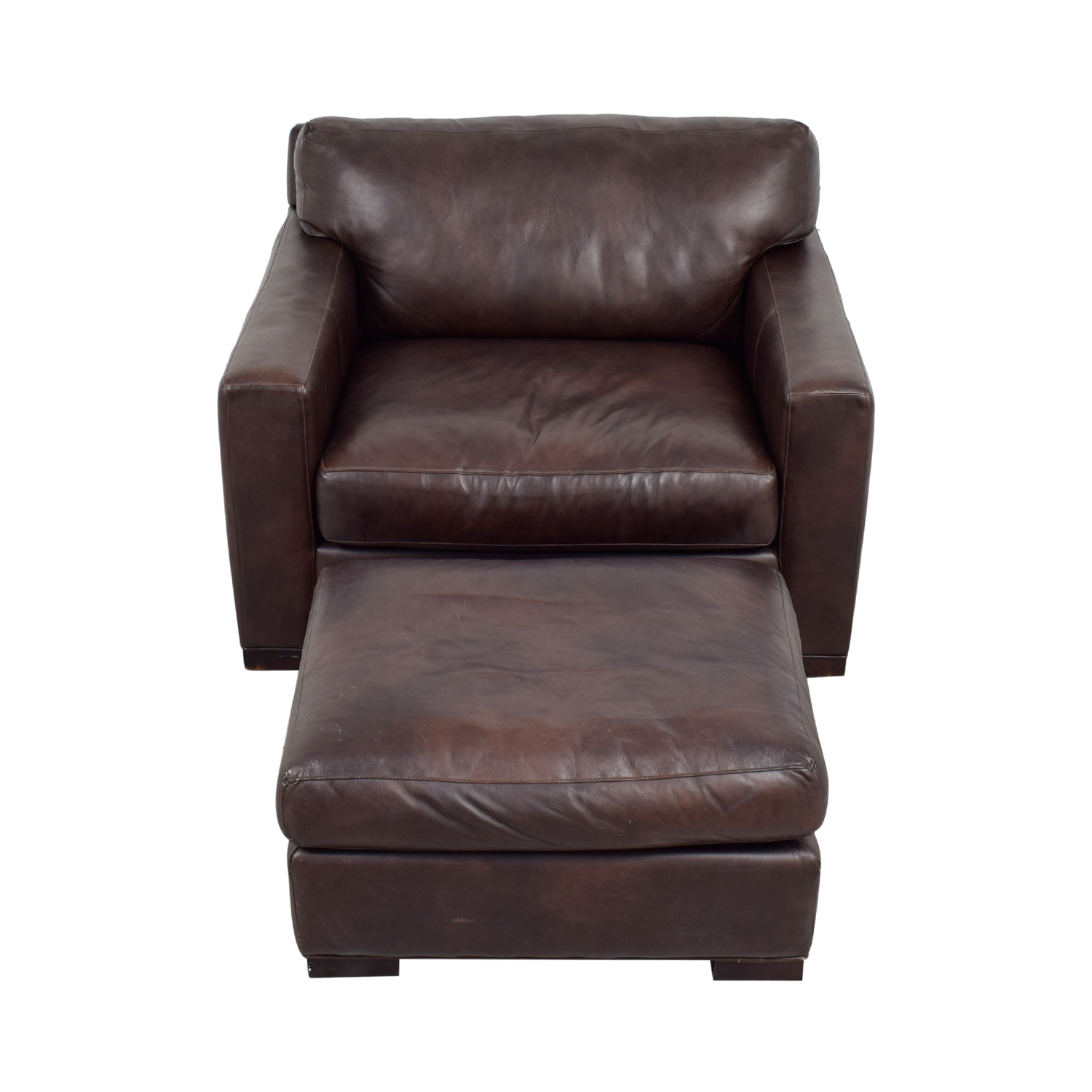 Leather Chair And Ottoman Crate Barrel Axis Ii Leather Chair Ottoman