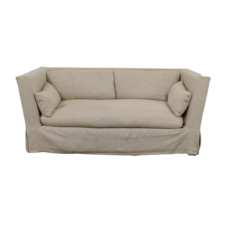 belgian classic slope arm slipcovered sofa sleeper san francisco restoration hardware slipcover barclay upholstered