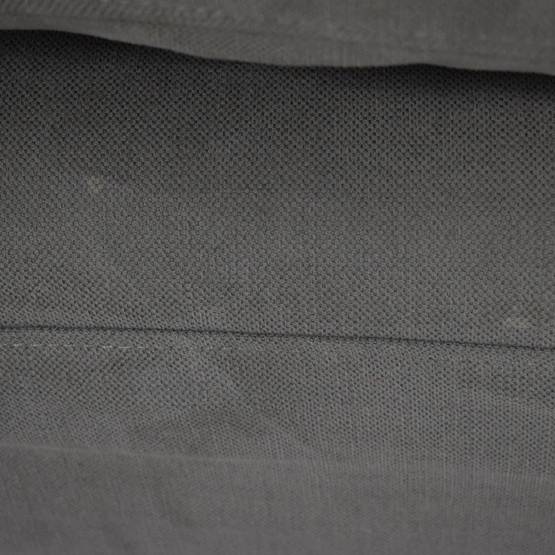 cloud track arm leather two seat cushion sofa alabama ilva 32 off restoration hardware buy grey single