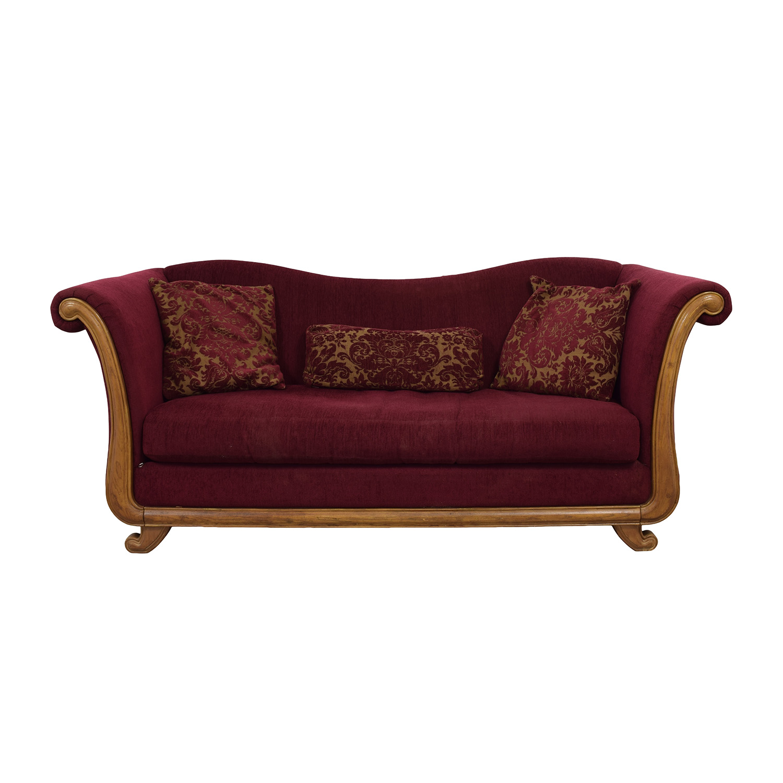 bernhardt sofas circle 88 off maroon single cushion camel back sofa second hand