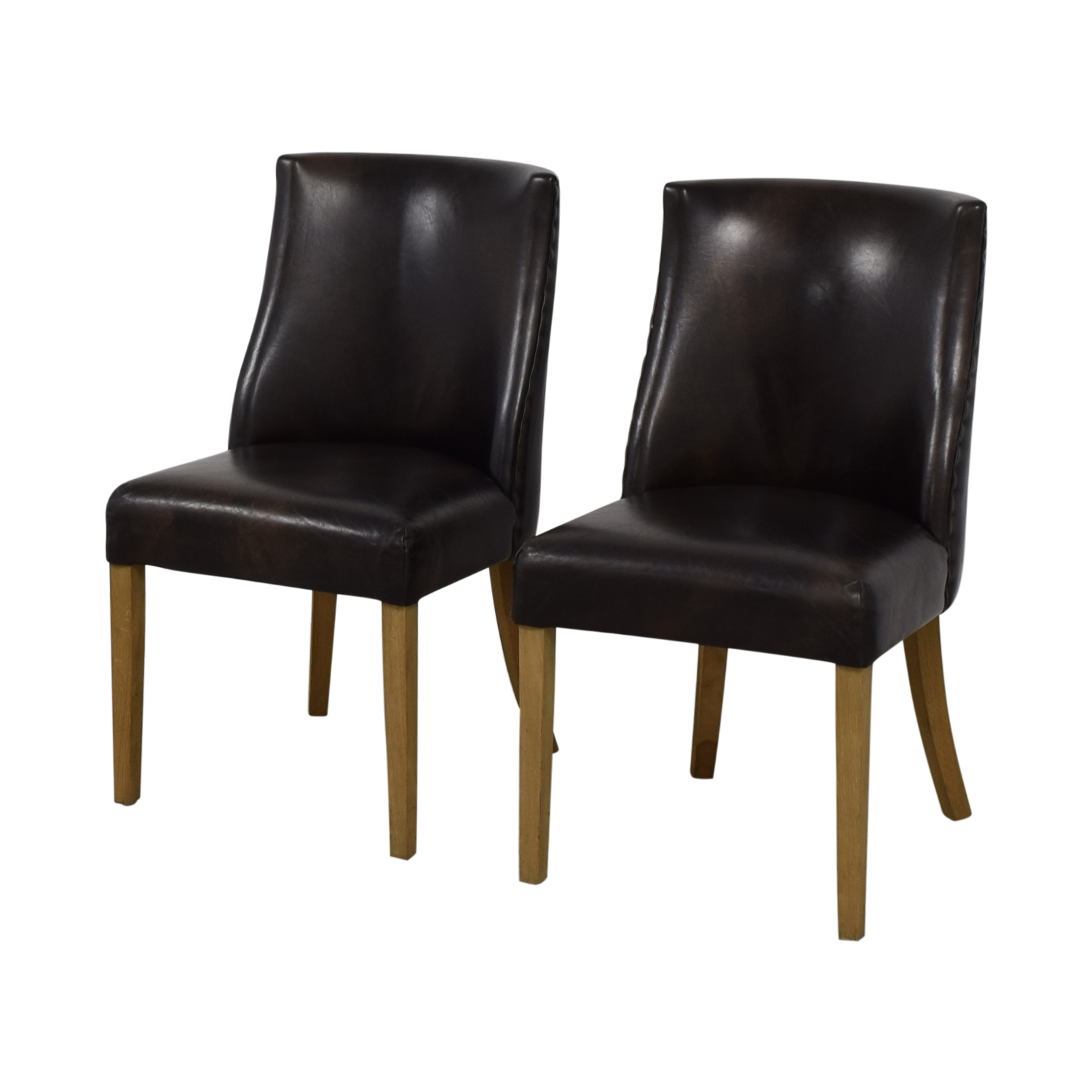 Restoration Hardware Leather Chairs 89 Off Restoration Hardware Restoration Hardware Brown