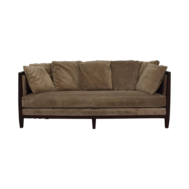 bernhardt sofas big sofa cushions online india 80 off mocha brown single cushion dimensions