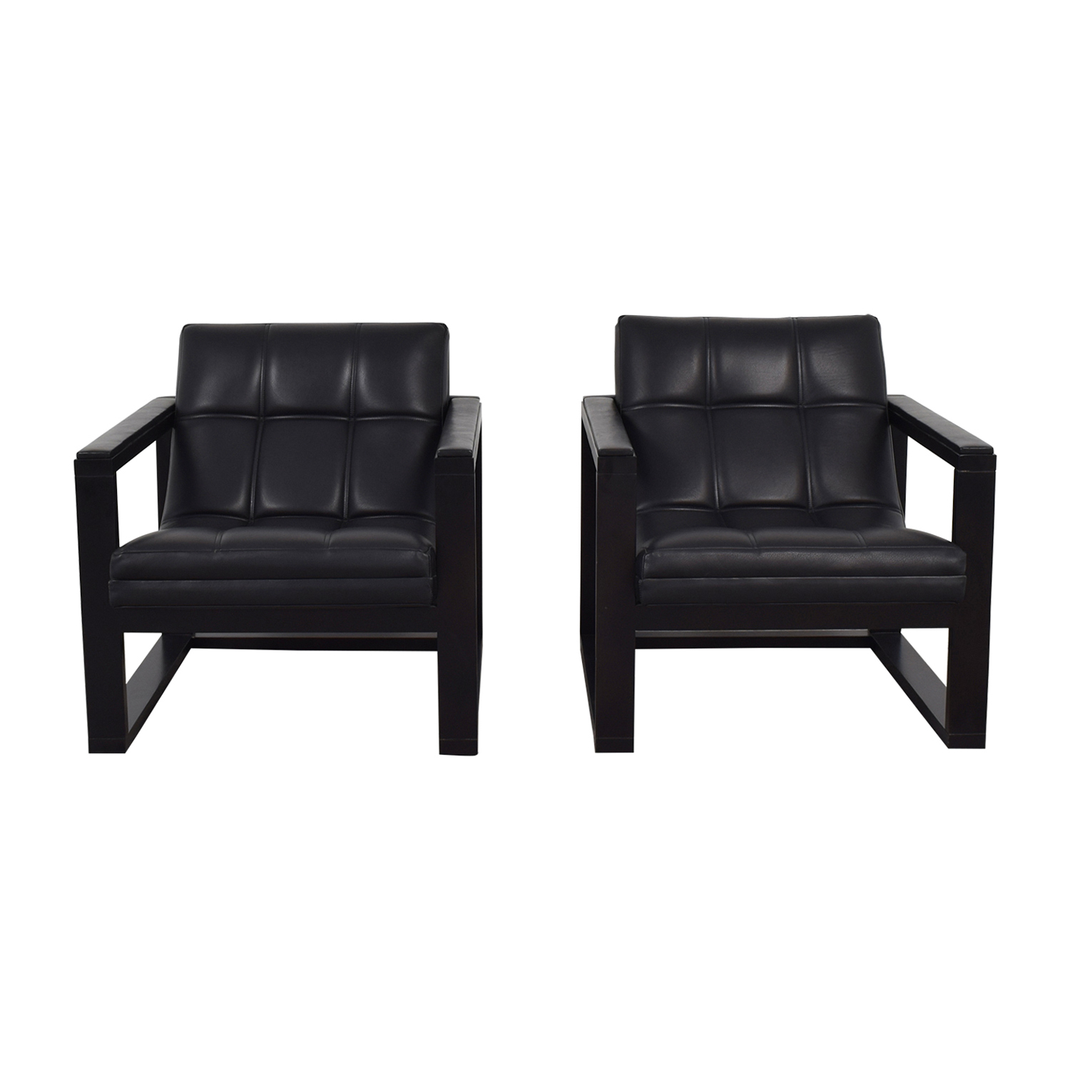Black Accent Chairs Maurice Villency Architectural Black Accent Chairs