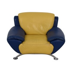 Modern Leather Accent Chairs Lucite Swivel Chair 88 Off Satis Yellow And Blue Price