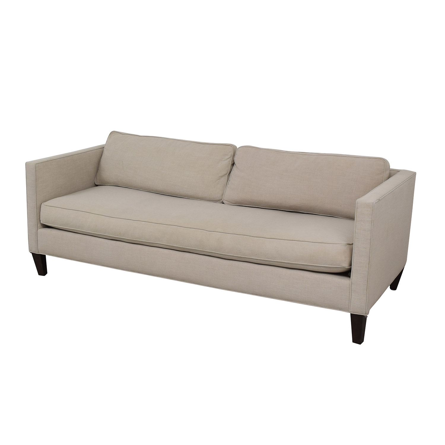 dunham sofa modern seattle 75 off west elm linen weave natural
