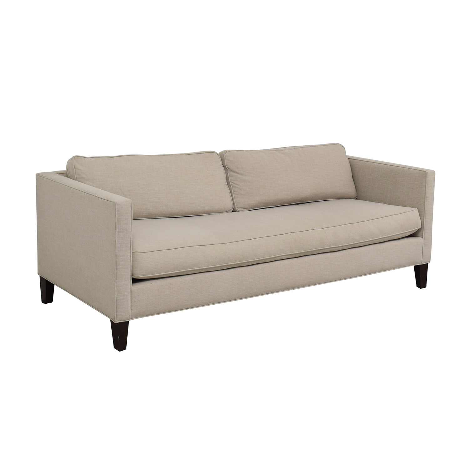 dunham sofa inclinable cuir 75 off west elm linen weave natural single buy cushion classic sofas