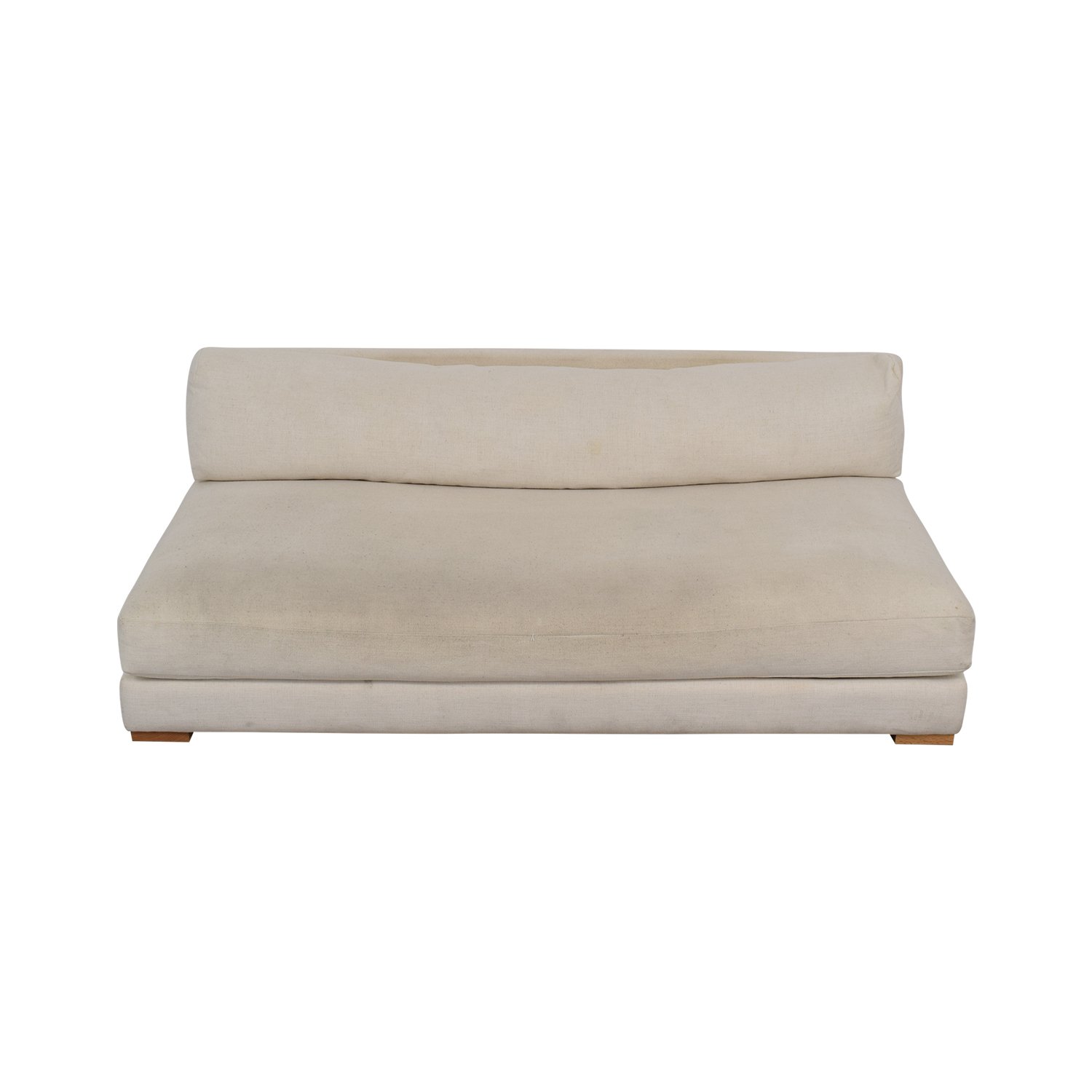 cb2 piazza sofa review outdoor air sleep couch armless sofas baci living room