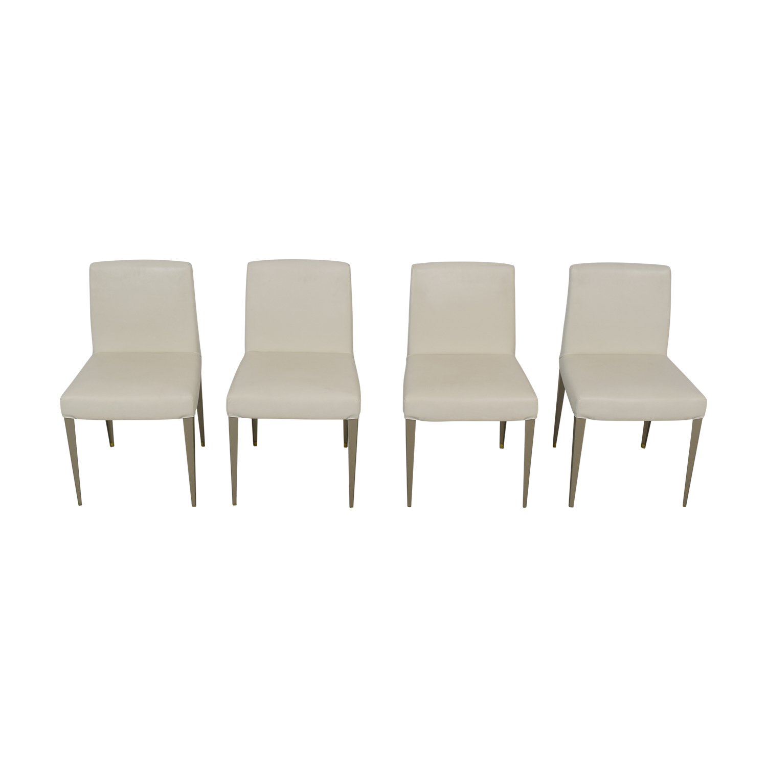 white leather chairs dining nichols and stone 52 off b italia nyc