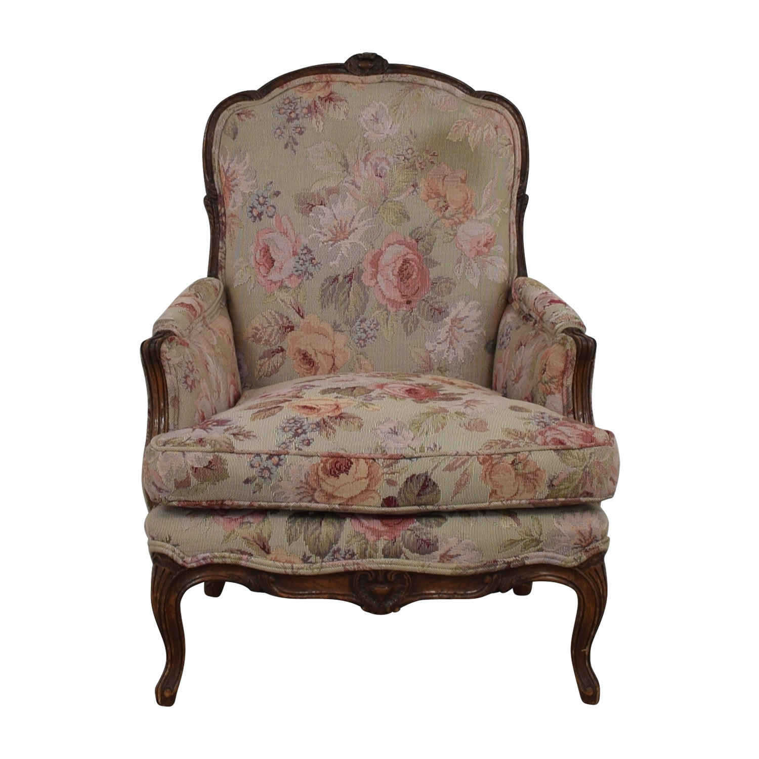 floral upholstered chair high for kitchen 79 off arm chairs buy accent
