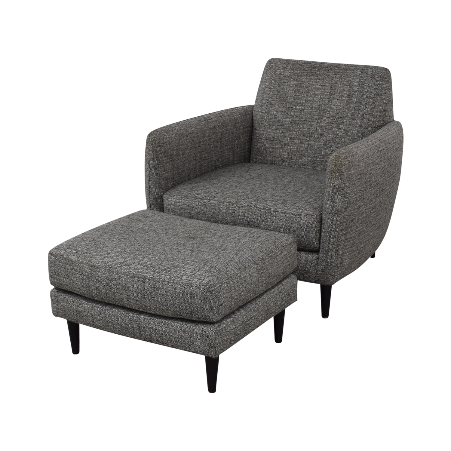 Grey Upholstered Chair 73 Off Cb2 Cb2 Grey Upholstered Parlour Chair And