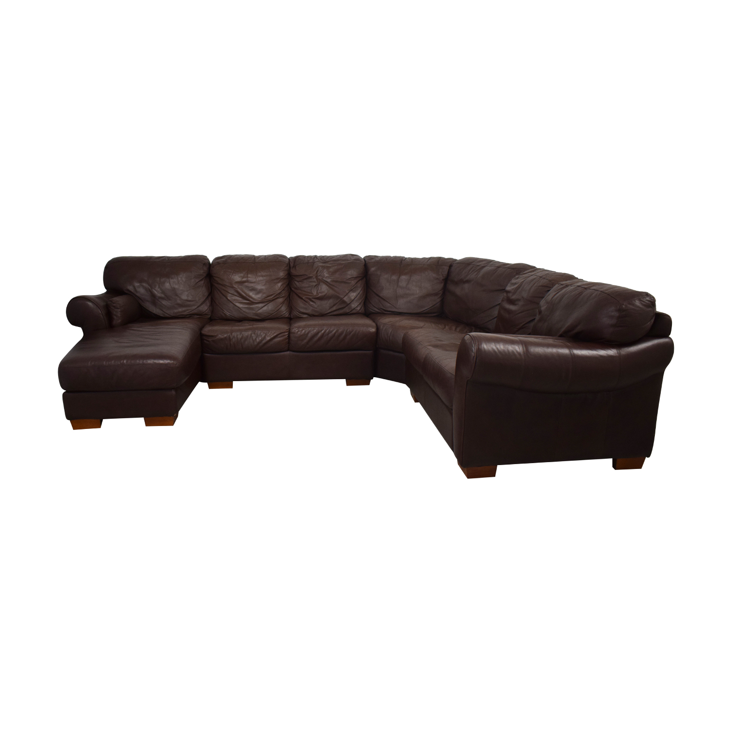 brown leather sectional sofa with chaise cover for cats best sectionals 1000 2000