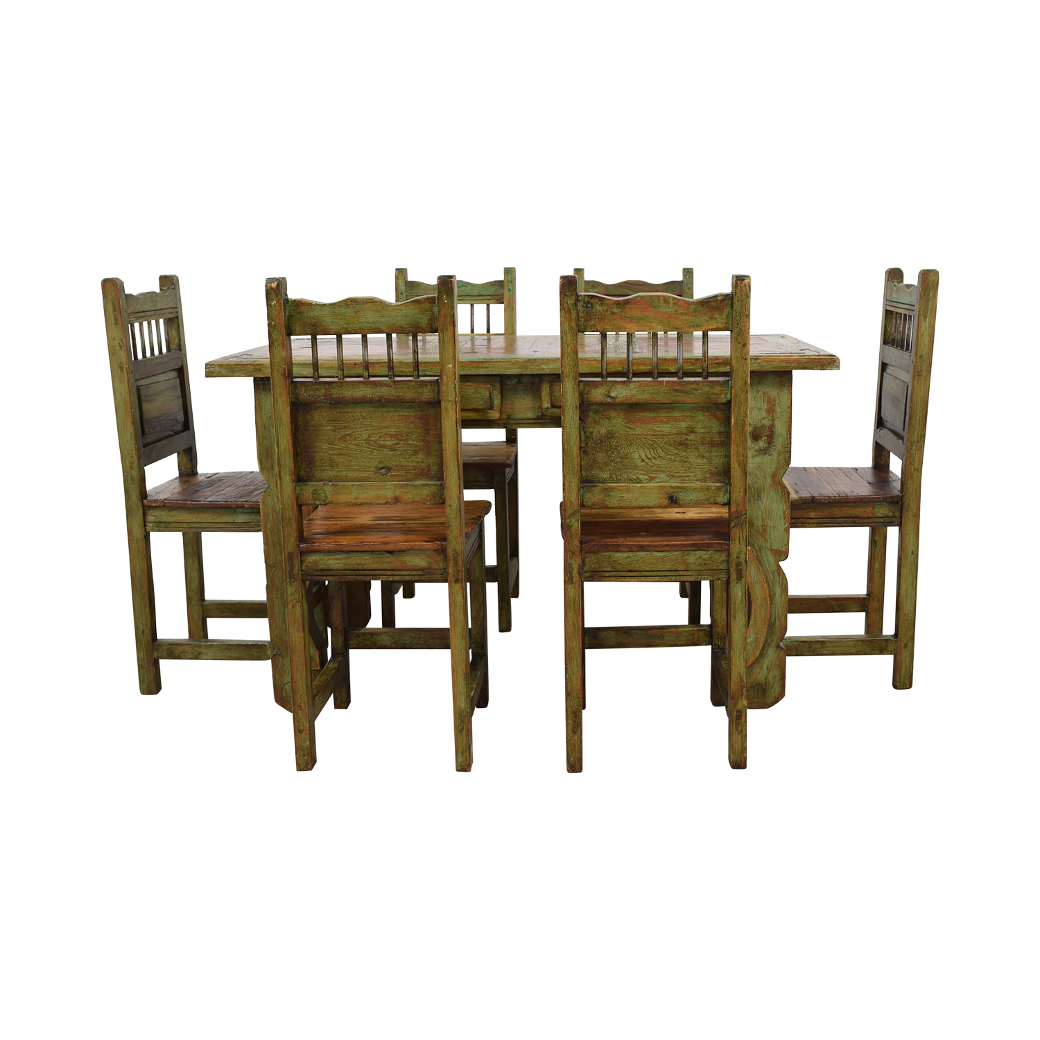 southwest dining chairs chair covers for ikea henriksdal 63 off el barzon rustic recycled wood buy set tables