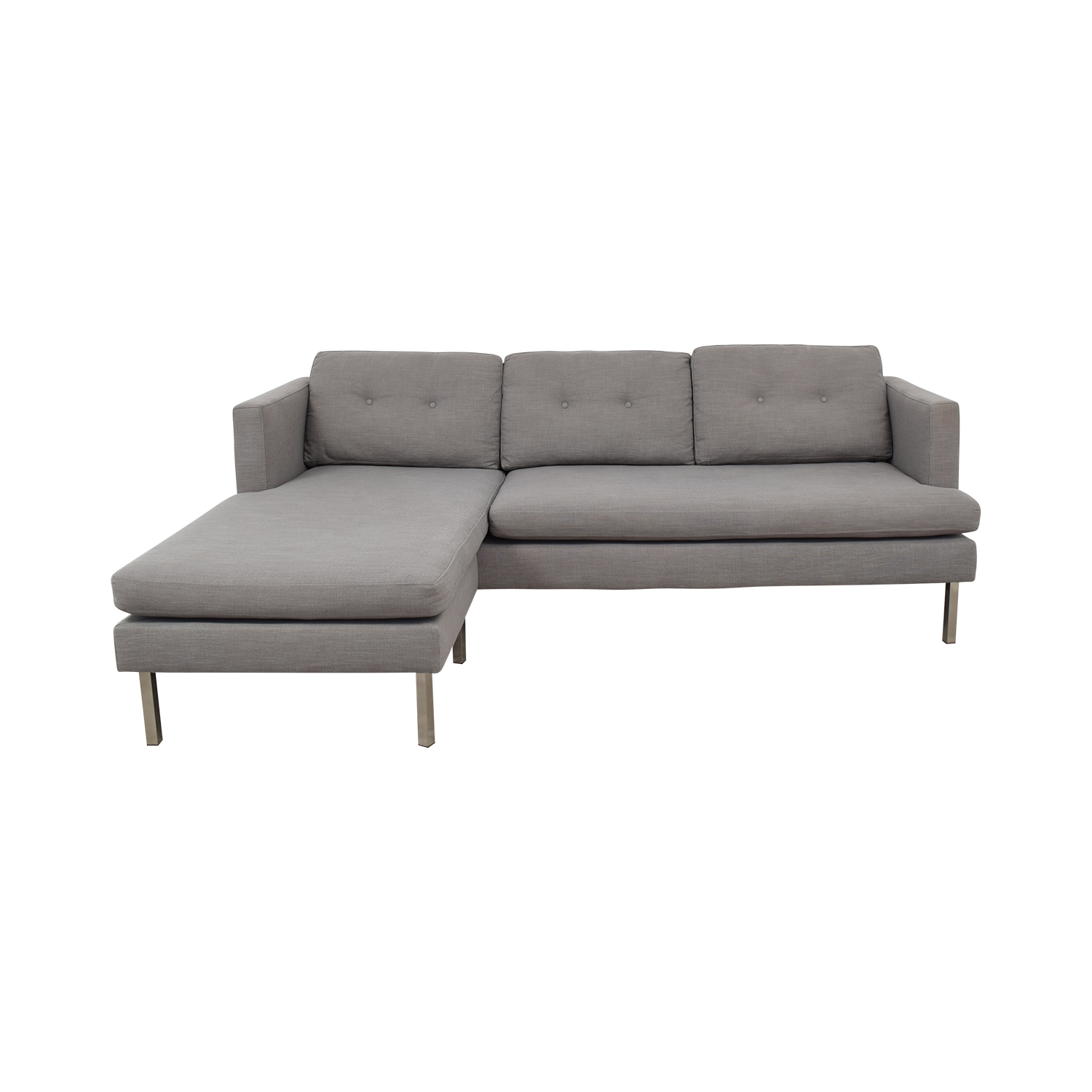 jackson sofa west elm custom beds 61 off grey chaise sectional sofas discount