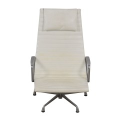 Eames Chair Herman Miller Tall Table And Chairs 36 Off Aluminum Group White Lounge
