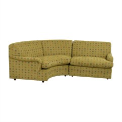 Crate And Barrel Lounge Sofa Pilling Zebra 74 Off Mason Art Mustard Custom Curved Sofas Nyc
