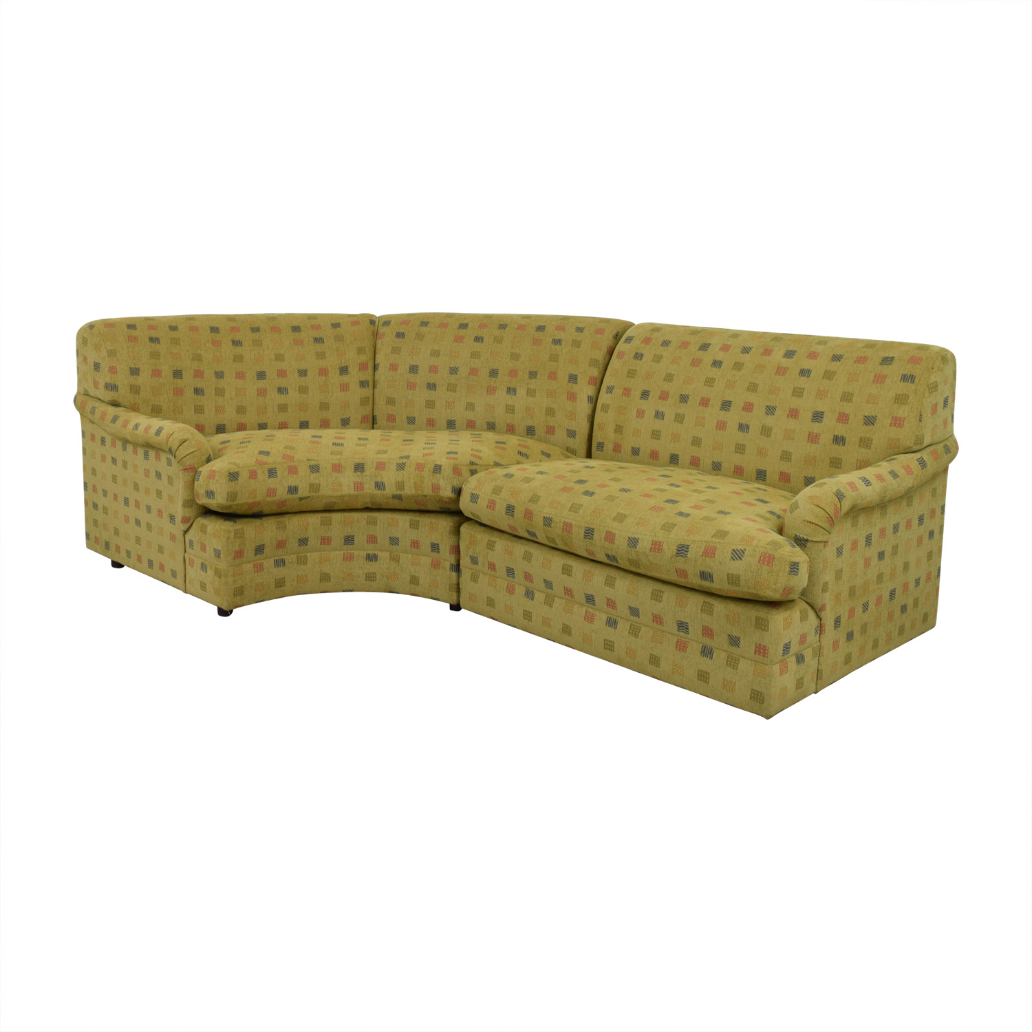 crate and barrel lounge sofa pilling cama estilo ingles 74 off mason art mustard custom curved sofas for sale
