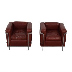 Le Corbusier Chair Purple Parsons 71 Off Cassina Lc2 Red And Chrome Accent Chairs