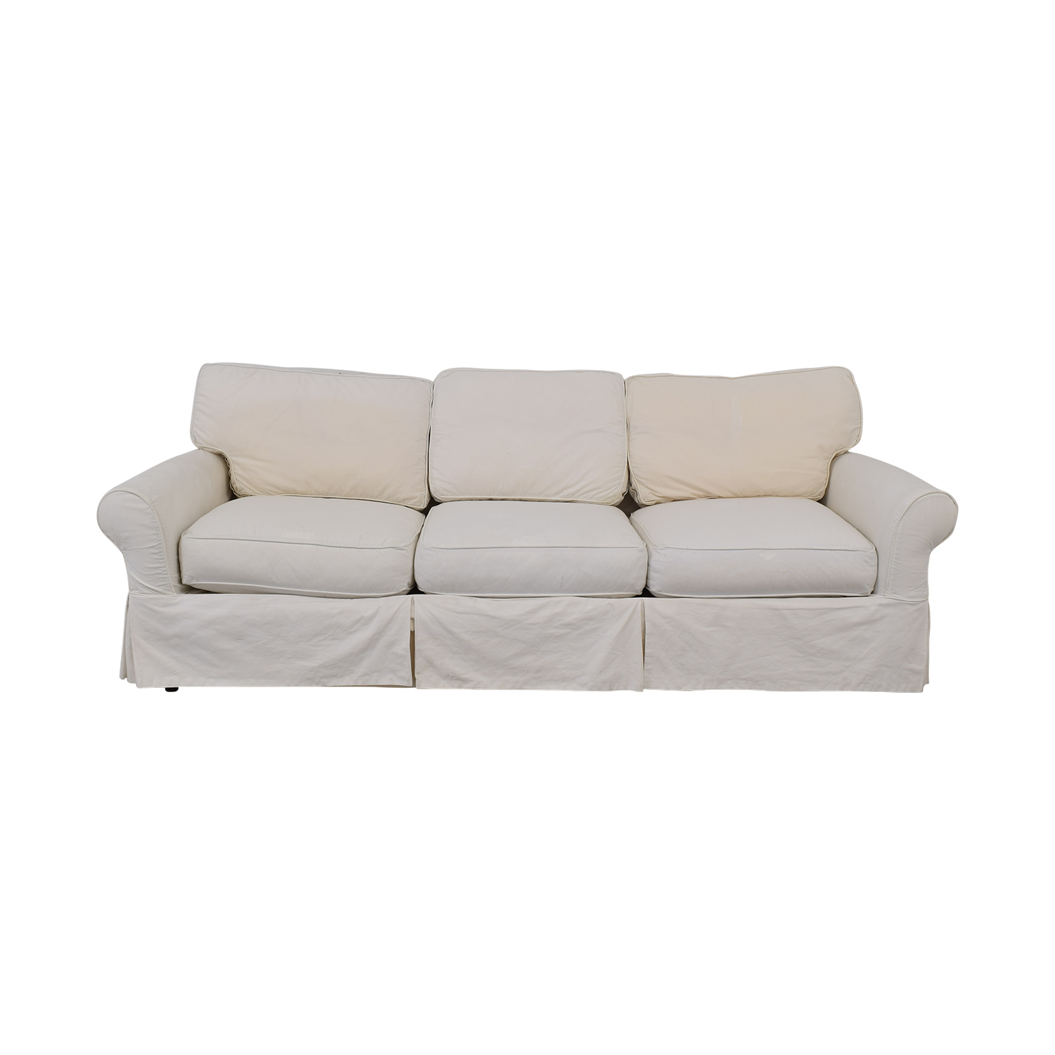 raymour and flanigan sofa slipcovers second hand set for sale 47 off crate barrel slipcover sofas buy online