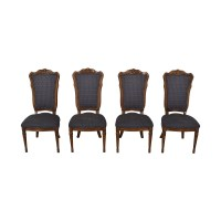 45% OFF - Multi-Colored Navy Dining Chairs / Chairs