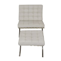 White Tufted Chairs Massage Chair Rental 63 Off Barcelona Style And Ottoman Shop Accent