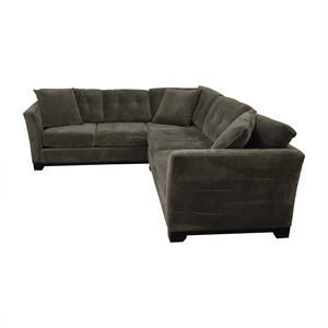2nd hand sectional sofa thin tables sectionals used for sale shop jonathan louis tufted grey microfiber l shaped
