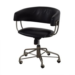 Office Chair Castors Chairs At Homegoods 76 Off West Elm Halifax Black On Buy Online