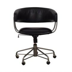 Office Chair Castors Desk Platform 76 Off West Elm Halifax Black On
