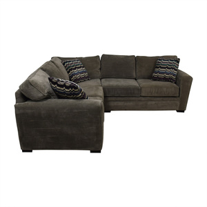 sectional sofa under 2000 wooden manufacturers in delhi sectionals used for sale raymour flanigan artemis ii gray microfiber l shaped on