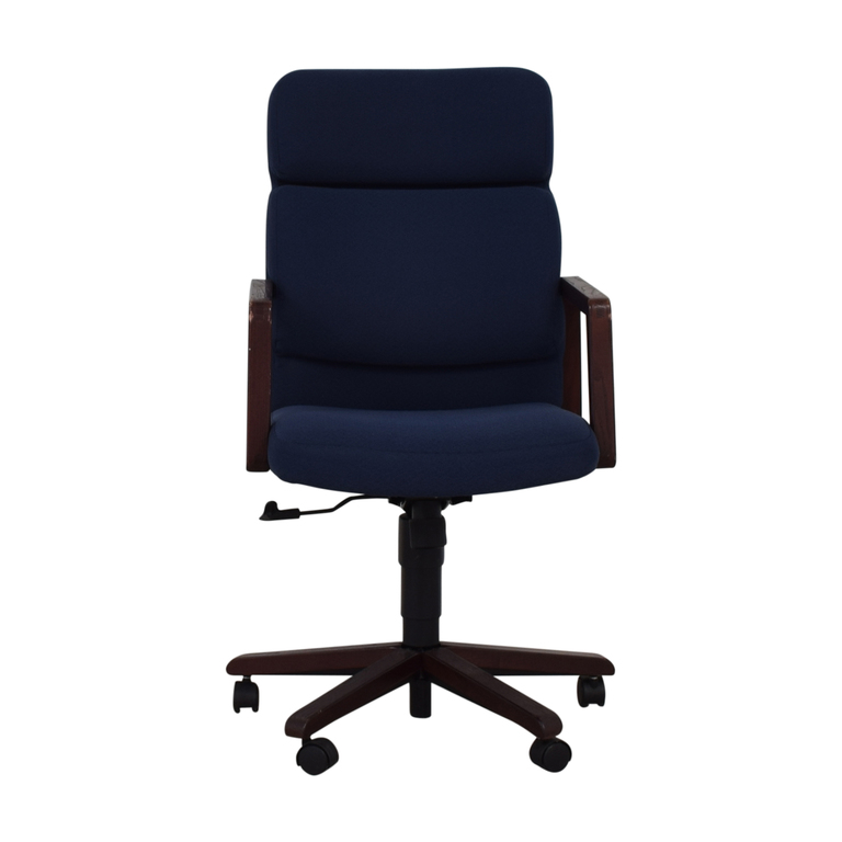 blue office chair womens home chairs used for sale on castors