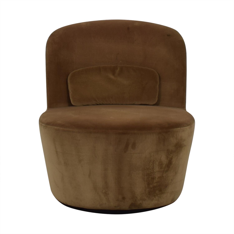 brown slipper chair ikea high 56 off tan chairs buy
