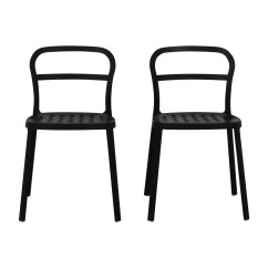 Ikea Metal Chairs Chair Covers For Sale Uk 50 Off Ingolf White Dining Shop Black Accent