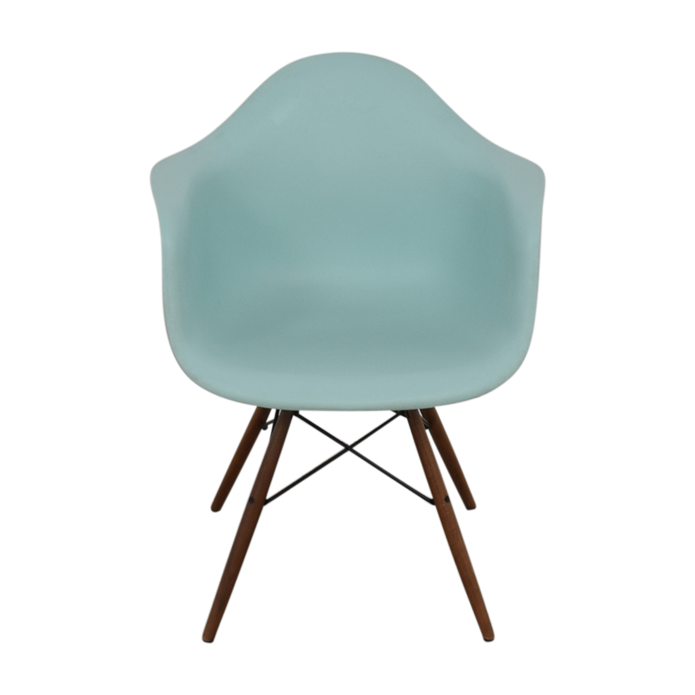 eames chair herman miller folding chairs target outdoor 48 off aqua sky molded plastic shop dowel leg armchair