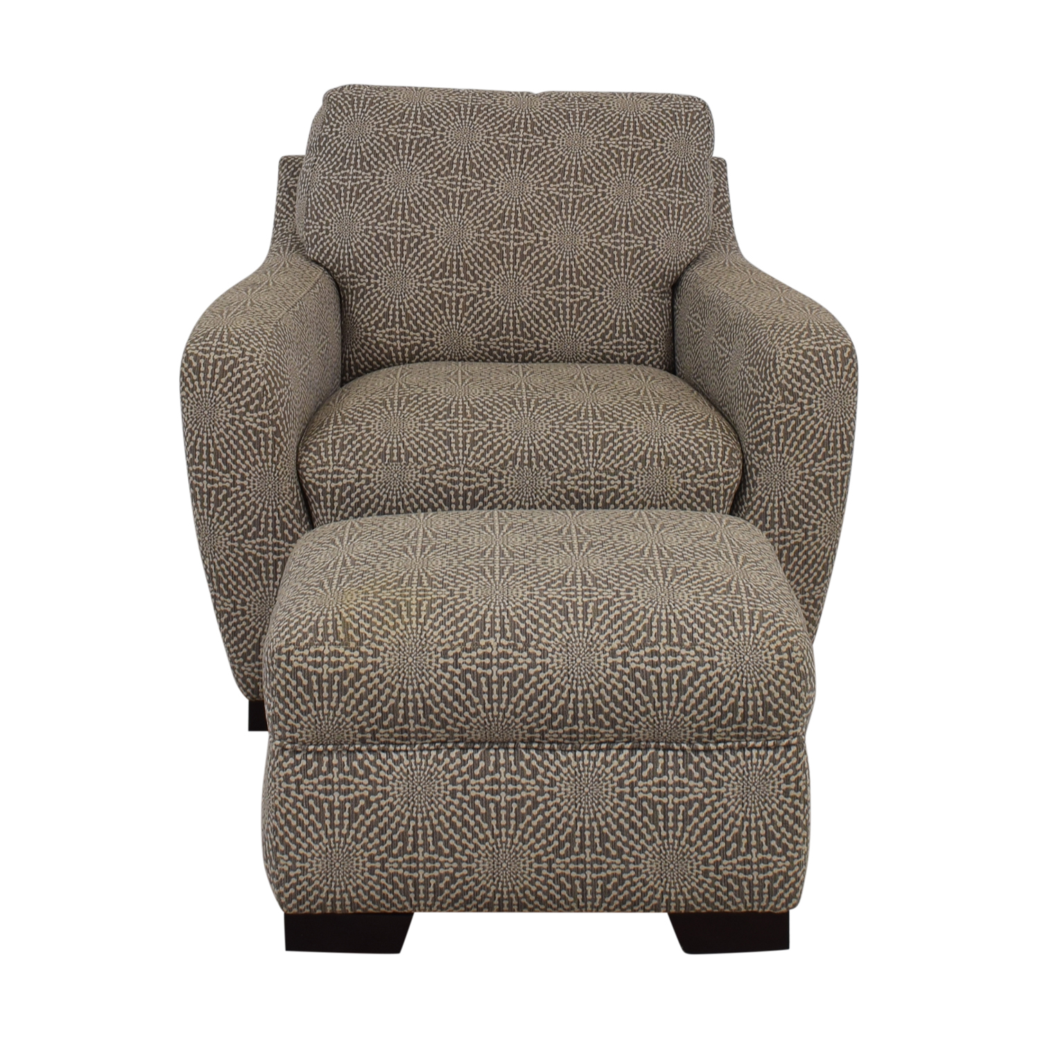 brown accent chair with ottoman outdoor swing nz 54 off raymour flanigan beige and