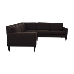 2nd hand sectional sofa custom beds uk sectionals used for sale crate barrel rochelle brown l shaped discount