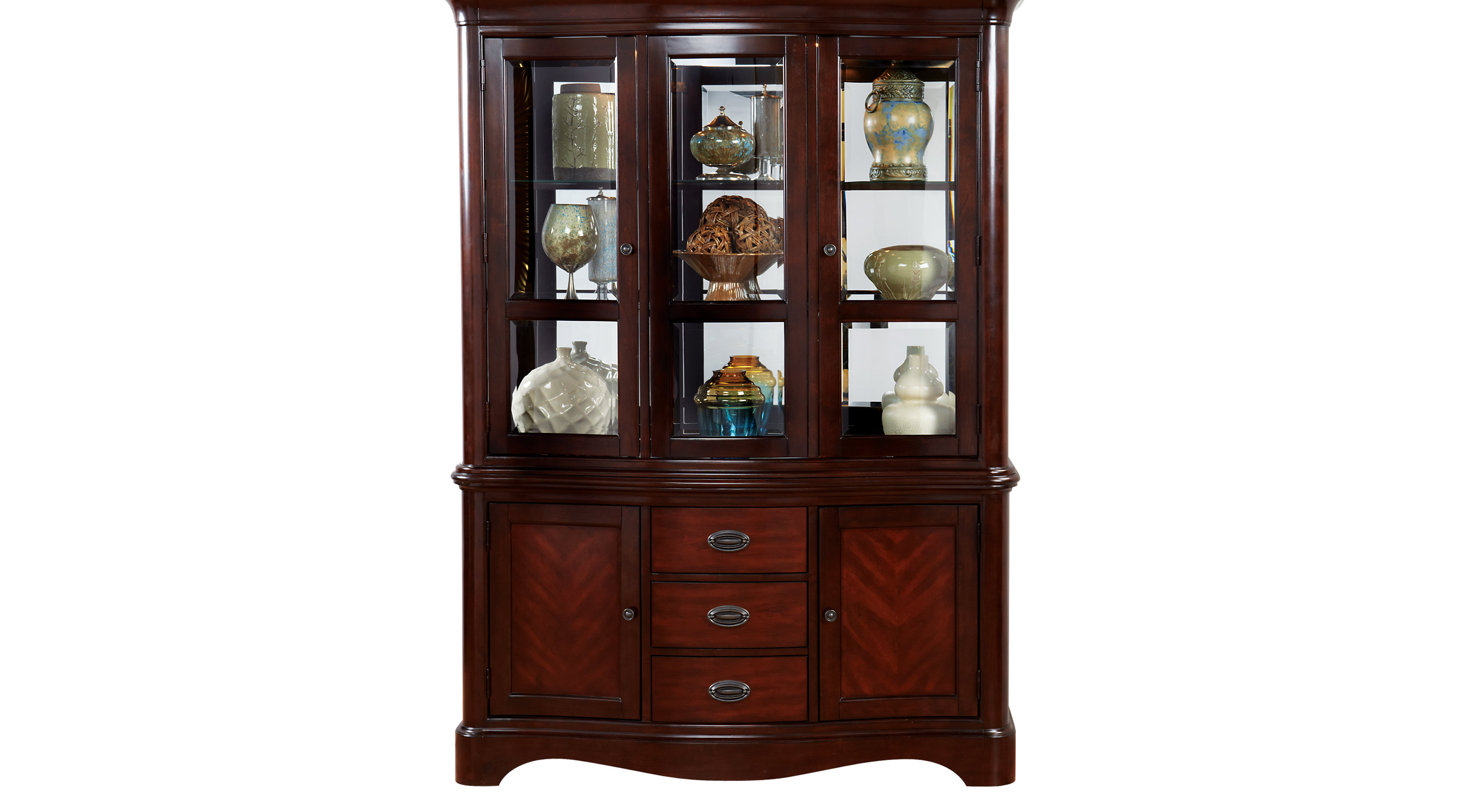 Granby Merlot reddish brown 2 Pc China Cabinet  Formal