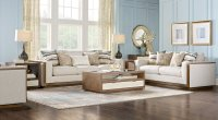 Beige, Brown & Blue Living Room Furniture & Decorating Ideas