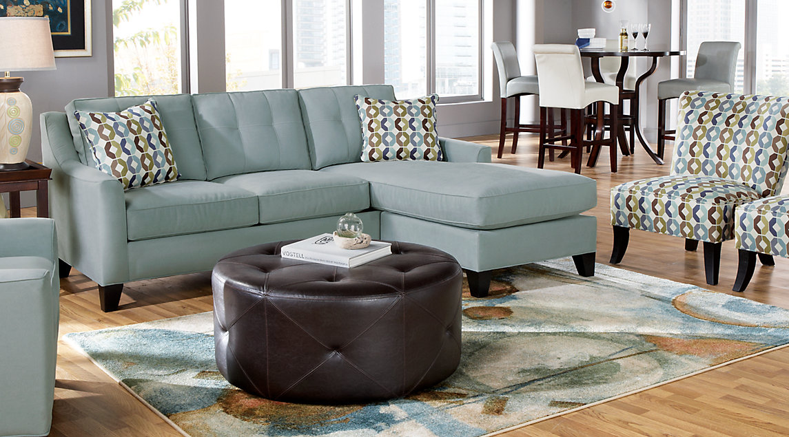 brown living room chairs leather sofas blue gray furniture decorating ideas cindy crawford set light tufted sectional with and accent pillows matching a