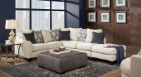 Living Room Inspiration: White, Gray & Navy Blue Living Rooms