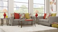 Orange & Gray Living Room Furniture and Decorating Ideas