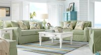 Gray, Taupe & Green Living Room Furniture: Decorating Ideas