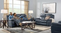 Navy Blue, Gray & White Living Room Furniture & Decor Ideas