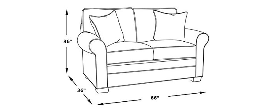 These Measurements Are Much Smaller Than Most Full Sized Sofas Which About 84 Inches Wide And 40 Deep While Many People Assume That Loveseats