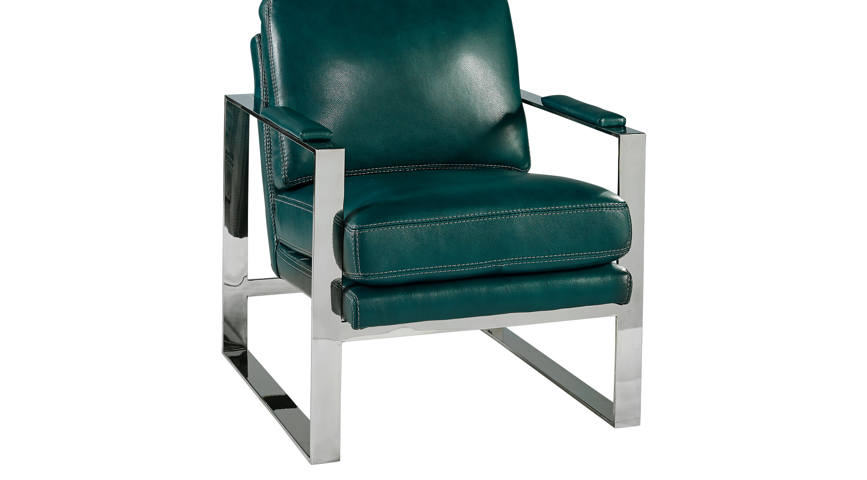 Turquoise Leather Chair Preston Ridge Turquoise Leather Chair Contemporary