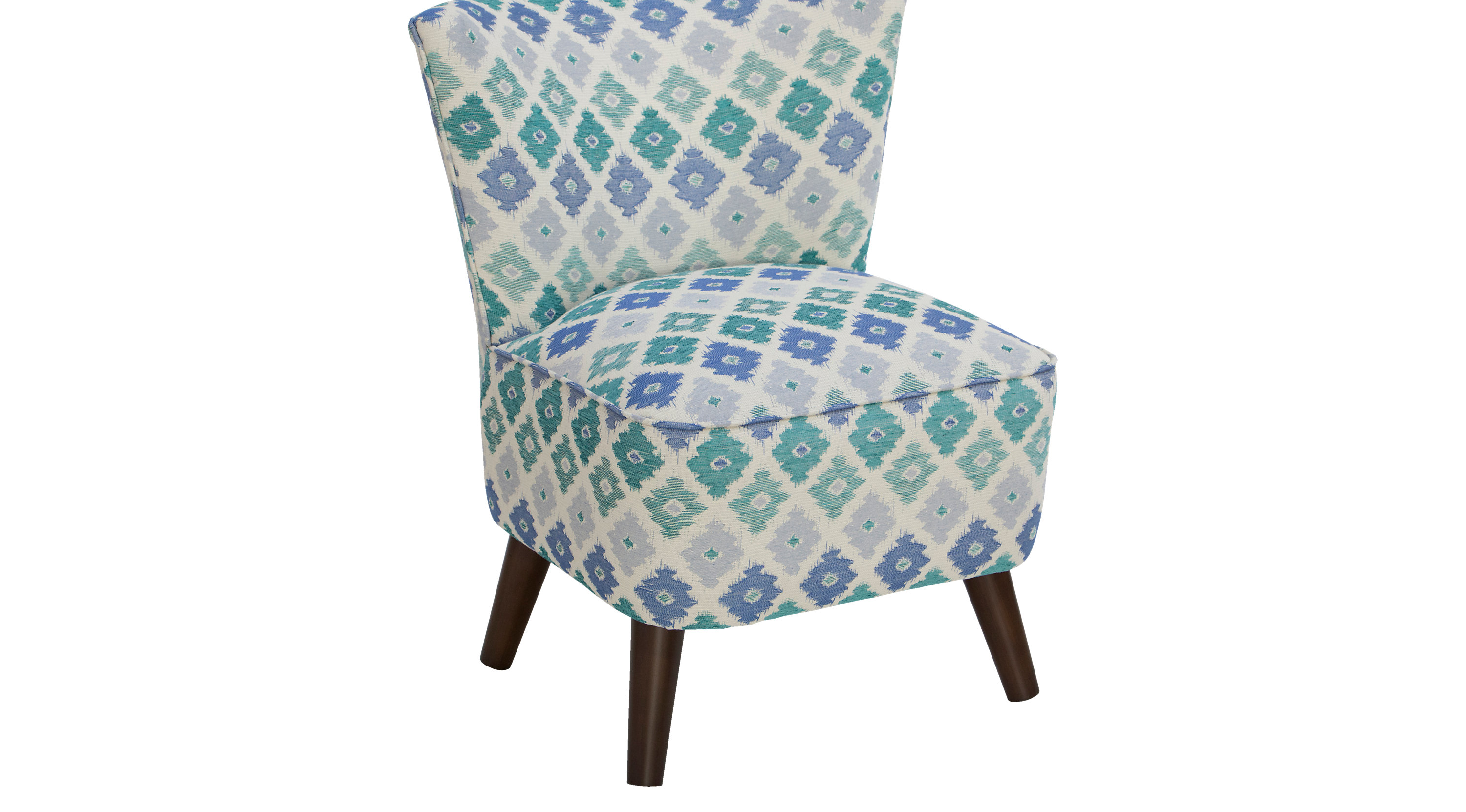 Blue Patterned Chair Aviana Marine Chair