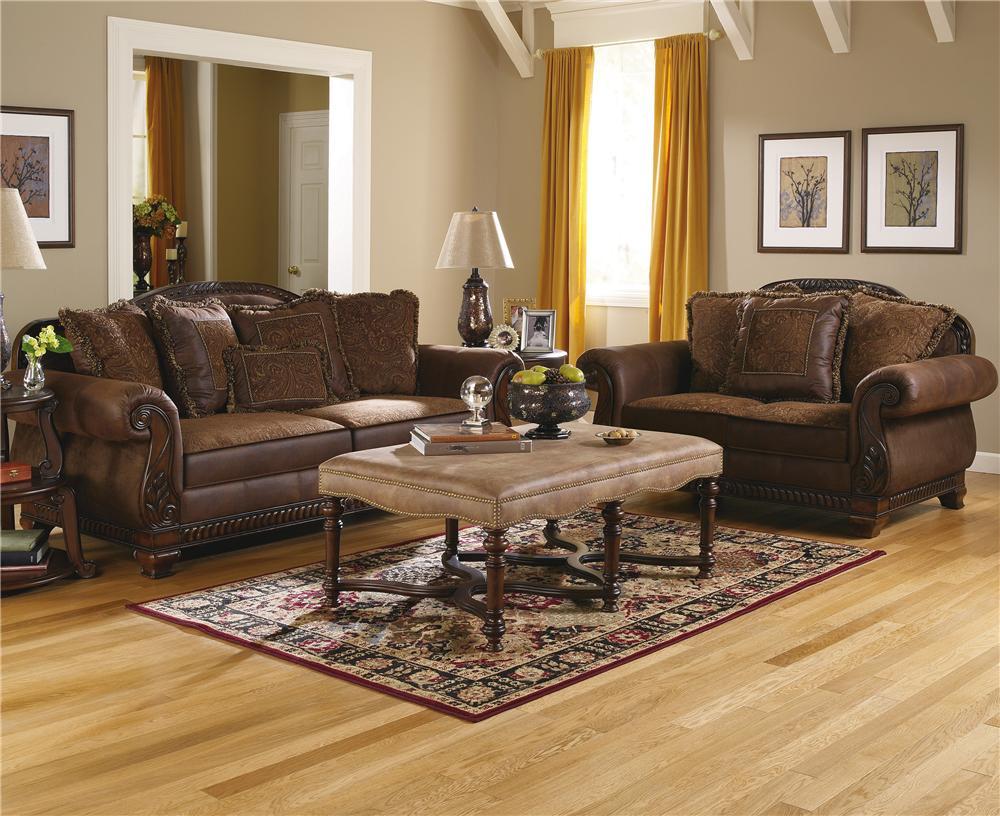 ashley furniture bradington truffle stationary living room group ahfa upholstery group dealer locator