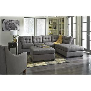 Jody  Charcoal 2Piece Sectional with Right Chaise